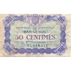 55 - BAR LE DUC - CHAMBRE DE COMMERCE - 50 CENTIMES 1917