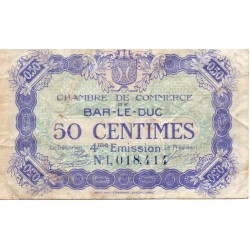 COUNTY 55 - BAR LE DUC - CHAMBER OF COMMERCE - 50 CENTIMES 1917