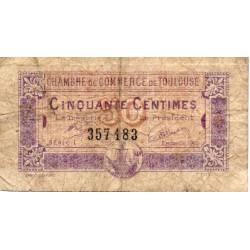 31 - TOULOUSE - CHAMBRE DE COMMERCE - 50 CENTIMES - 08/03/1922
