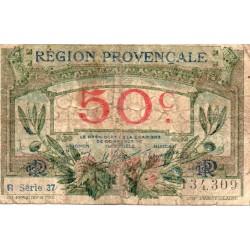 13 - REGION PROVENCALE - CHAMBRE DE COMMERCE - 50 CENTIMES - 1918