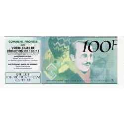 FRANCE - 100-FRANC ADVERTISING TICKET - CATALOGUE QUELLE - 2001
