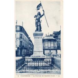 60200 - OISE - COMPIEGNE - LA STATUE DE JEANNE D'ARC