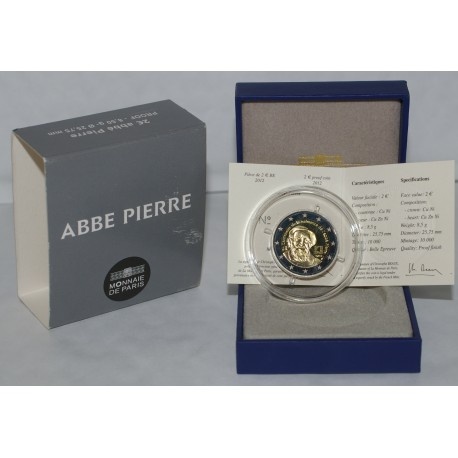 FRANCE - 2 EURO 2012 - ABBE PIERRE - second hand