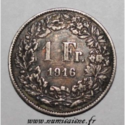 SWITZERLAND - KM 24 - 1 FRANCS 1916