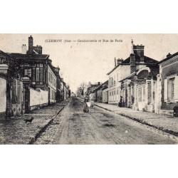 KOMITAT 60600 - OISE - CLERMONT - GENDARMERIE ET RUE DE PARIS