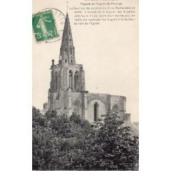 County 60800 - OISE - CREPY-EN-VALOIS - ST. THOMAS CHURCH FACADE