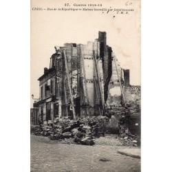 County 60100 - OISE - CREIL - WAR 1914-15 - RUE DE LA REPUBLIQUE - HOUSE BURNED BY THE GERMANS