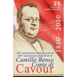 ITALIA - 2 EURO 2010 - 200 YEARS OF THE BIRTH OF CAMILLO BENSO CAVOUR