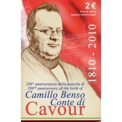 ITALIA - 2 EURO 2010 - 200 YEARS OF THE BIRTH OF CAMILLO BENSO CAVOUR