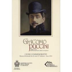 SAN MARINO - 2 EURO 2014 - 90 years since GIACOMO PUCCINI's death