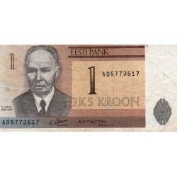 ESTONIA - PICK 69 - 1 KROON - 1992