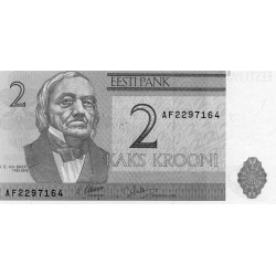 ESTONIA - PICK 70 a - 2 KROONI - 1992