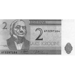 ESTONIE - PICK 70 a - 2 KROONI - 1992