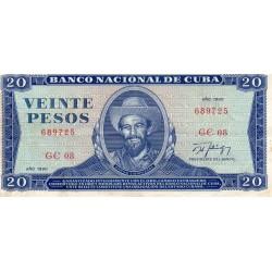 CUBA - PICK 105 d - 20 PESOS 1990