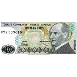 TURKEY - PICK 192 - 10 LIRA - 1970 (1979)