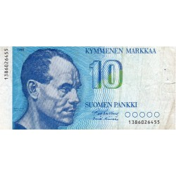 FINLAND - PICK 113 a - 10 MARKKAA - 1986