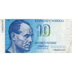 FINLANDE - PICK 113 a - 10 MARKKAA - 1986