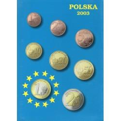 POLAND - PROTOTYPE COIN SET 2003 - 8 COINS