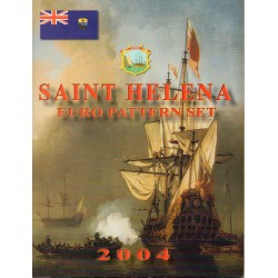 SAINT HELENA - EURO PATTERN SET - 8 CURRENCIES - 2004