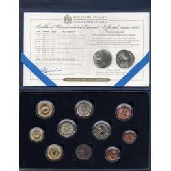 MALTA - 5.88 € - MINTSET BU 2019 - 9 coins incl. 2€ commemorative and medal