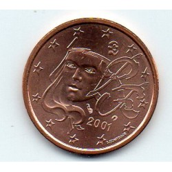 FRANCE - 5 CENT 2001 - NOUVELLE MARIANNE