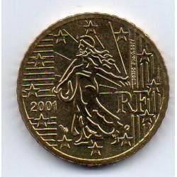 FRANCE - 50 CENT 2001 - NOUVELLE MARIANNE