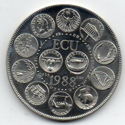 FRANCE - MEDAL - EUROPA - ECU 1988