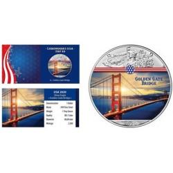 ÉTATS UNIS - 1 DOLLAR 2020 - GOLDEN GATE BRIDGE - 1 ONCE ARGENT