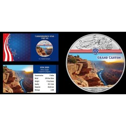ÉTATS UNIS - 1 DOLLAR 2020 - GRAND CANYON - 1 ONCE ARGENT