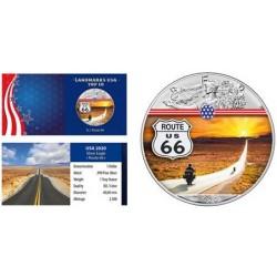 USA - 1 DOLLAR 2020 - ROAD 66 - 1 OZ - SILVER EAGLE