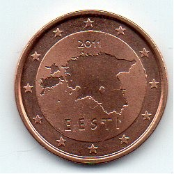 ESTONIA - KM 62 - 2 CENT 2011
