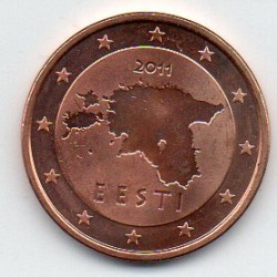 ESTONIA - KM 63 - 5 CENT 2011