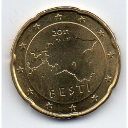 ESTONIA - KM 65 - 20 CENT 2011