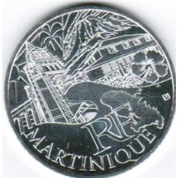 EUROS DES REGIONS - 10 EURO MARTINIQUE 2011 - SILVER