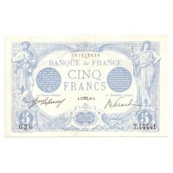 FAY 02/44 - 5 FRANCS BLEU - 17/10/1916 - VERSEAU - NEUF TACHE - PICK 70