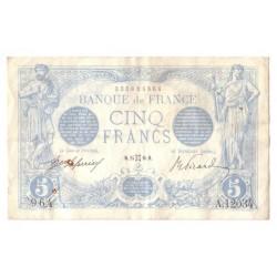 FAY 02/39 - 5 FRANCS BLEU - 24/05/1916 - GEMEAUX - ROUILLE SINON SUP - PICK 70