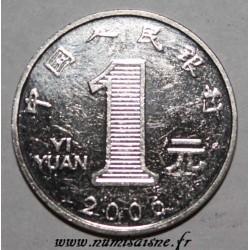 CHINA - KM 1069 - 1 YUAN 2006 - CHRYSANTHEMUM