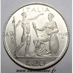 ITALY - 20 LIRE 1928 R - AN VI - FALSE