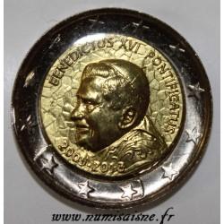 VATICAN - 2 EURO Domed - 2005-2013 - BENOIT XVI - PONTIFICATUS