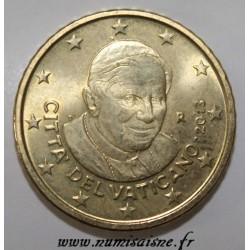 VATICAN - KM 387 - 50 CENT 2013 - POPE BENEDICT XVI