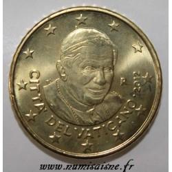 VATICAN - KM 387 - 50 CENT 2012 - POPE BENEDICT XVI