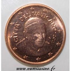 VATICAN - KM 375 - 1 CENT 2011 - BENOIT XVI