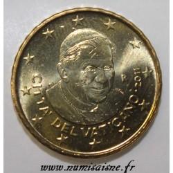 VATICAN - KM 385 - 10 CENT 2011 - POPE BENEDICT XVI