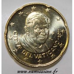 VATICAN - KM 386 - 20 CENT 2011 - POPE BENEDICT XVI