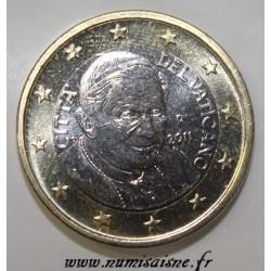 VATICAN - KM 388 - 1 EURO 2011 - POPE BENEDICT XVI