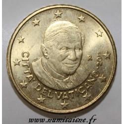 VATICAN - KM 387 - 50 CENT 2011 - POPE BENEDICT XVI