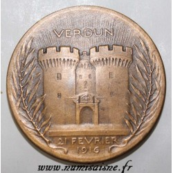 FRANCE - MEDAL - VERDUN - 21 FEVRIER 1916 - ON NE PASSE PAS