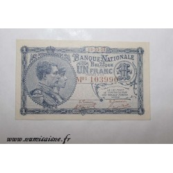 BELGIUM - 1 FRANC 1920 - 15.03 - NATIONAL BANK