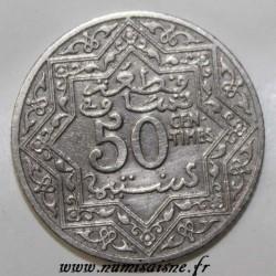 MAROC - Y 35.1 - 50 CENTIMES 1339 H (1921)