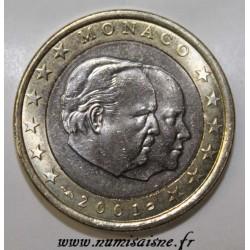 MONACO - KM 173 - 1 EURO 2001 - PRINCES RAINIER III ET ALBERT